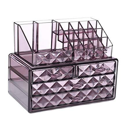 Amazon.com: Ikee Design Acrylic Purple Diamond Pattern Jewelry