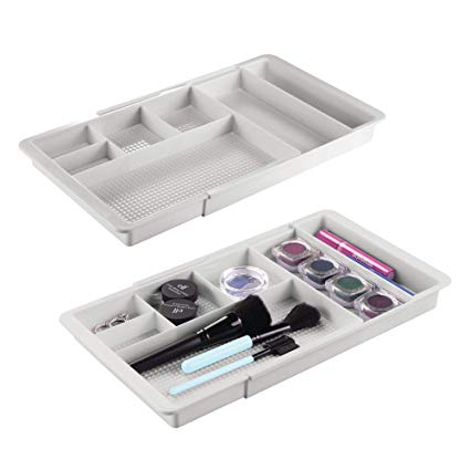 Amazon.com: mDesign Adjustable/Expandable Plastic Drawer Organizer