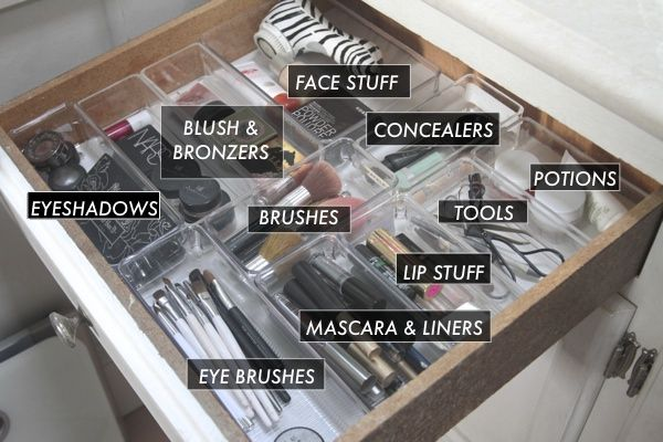 HS: Organized Makeup Drawer | Cosmetics & Jewelry Organization