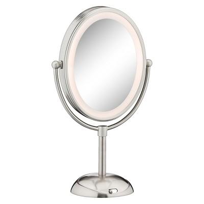 Conair Satin Nickel LED Cosmetic Mirror : Target