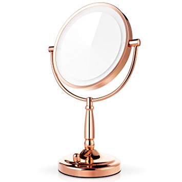 Amazon.com : Miusco 7X Magnifying Lighted Makeup Mirror, 8 Inch Two