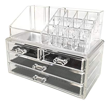 Amazon.com: Sodynee Jewelry and Cosmetic Storage 2 Piece Acrylic