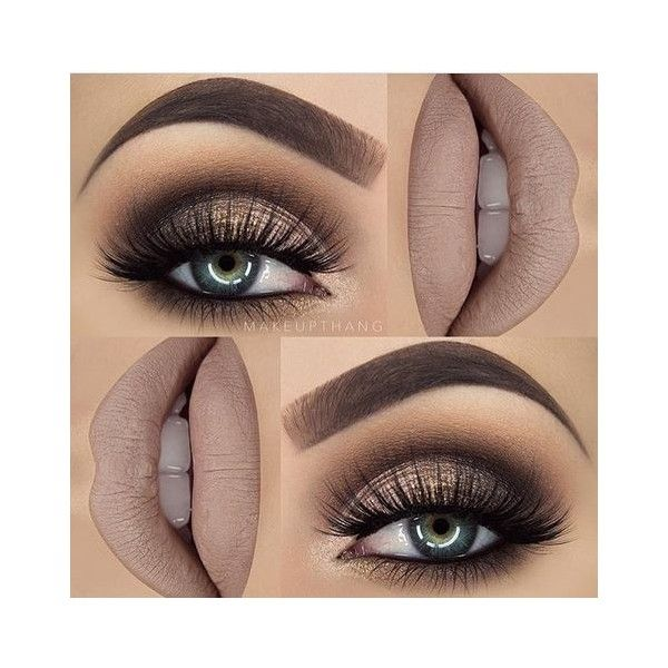 5 Makeup Styles for People with Green Eyes ❤ liked on Polyvore