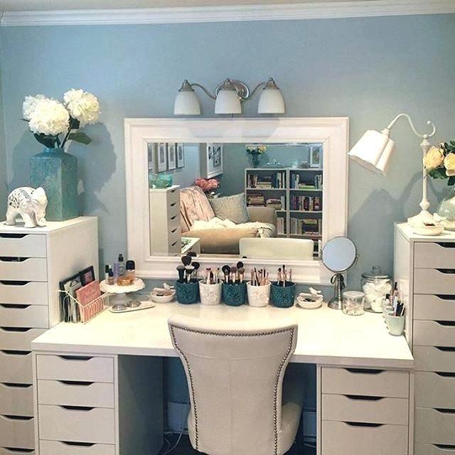 Ikea Vanity Table Bedroom Dressing Table Trendy Idea Makeup Vanity