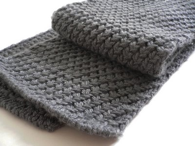 Knitting Patterns Galore - Extra Warm Men's Scarf