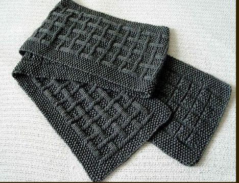 simple scarf, knitting pattern for men - crafts ideas - crafts for kids