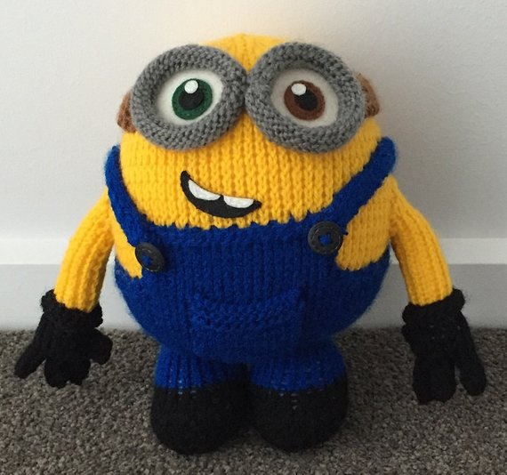 Bob the Minion Knitting Pattern PDF | Etsy
