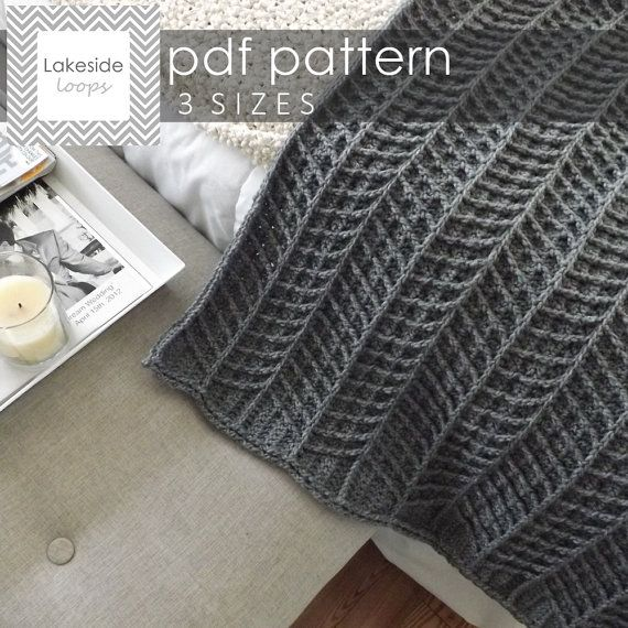 Modern, thick, and cozy . . this chevron crochet blanket pattern