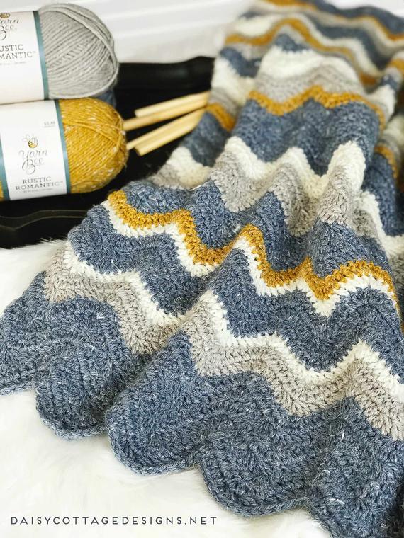 Crochet Pattern Crocheting Chevron Crochet Blanket Pattern | Etsy