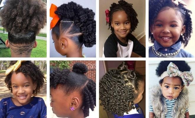 33 Cute Natural Hairstyles for Kids - Natural Hair Kids
