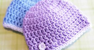 Newborn Charity Hat Crochet Pattern | Little Monkeys Crochet