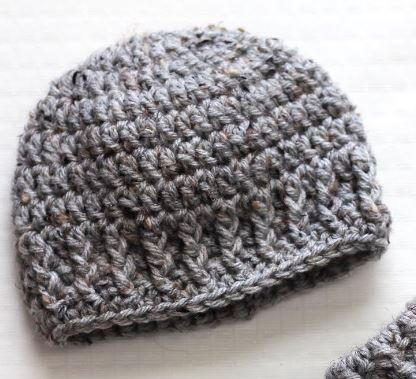 The Parker Newborn Hat | AllFreeCrochet.com