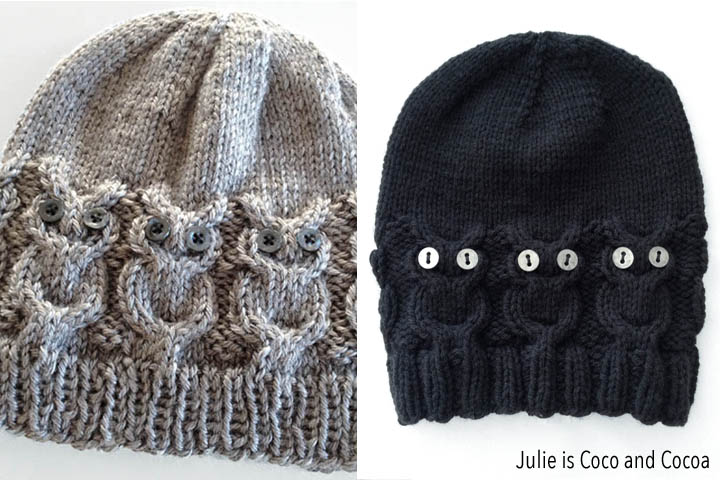 Owl Hat Knit Pattern - Julie Measures