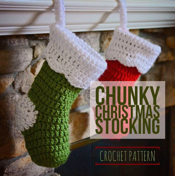 Crochet Chunky Christmas Stocking PATTERN by HandmadeByPhanessa