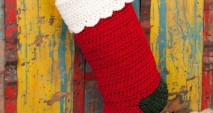Crochet Christmas Stocking Pattern | Red Heart