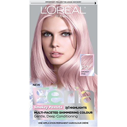 Amazon.com : L'Oréal Paris Feria Pastels Hair Color, P2 Rosy Blush