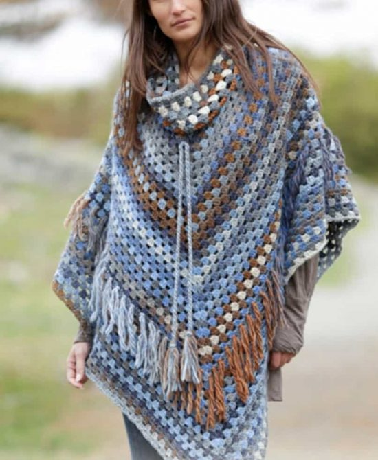 Different variety of poncho crochet   patterns