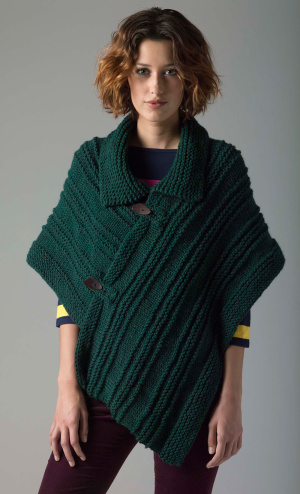 Knitting Patterns Galore - Level 1 Knit Poncho
