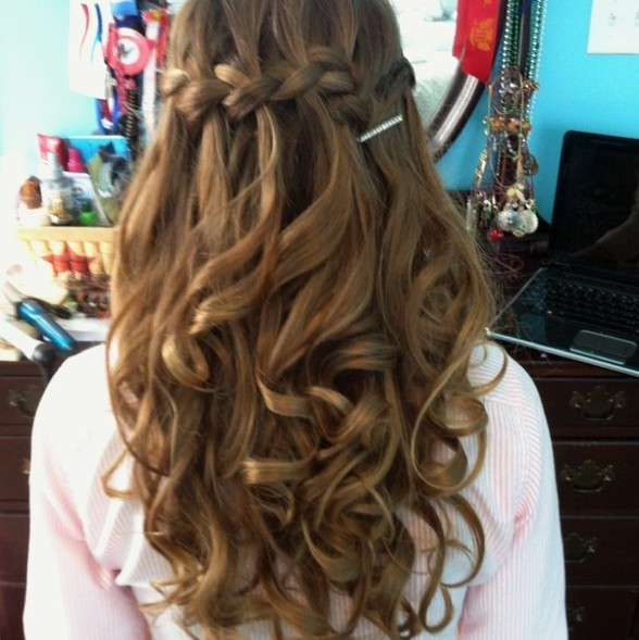Waterfall Braid for Prom Night Hairstyles Weekly - home coming