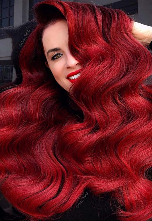 63 Hot Red Hair Color Shades to Dye for: Red Hair Dye Tips & Ideas