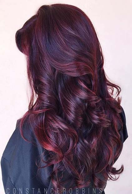 21 Amazing Dark Red Hair Color Ideas | Page 2 of 2 | StayGlam