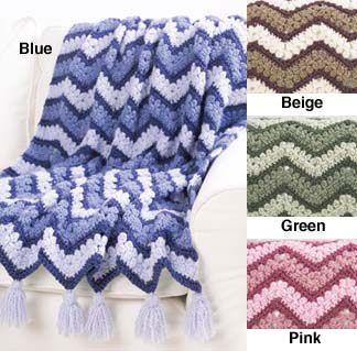 Mary Maxim - Free Harmony Ripple Afghan Crochet Pattern