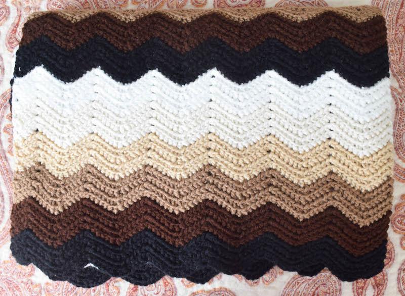 Crochet Pattern: Gentle Gradient Ripple Blanket with video tutorial