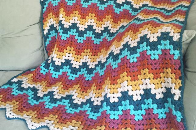 Free crochet ripple stitch blanket Patterns ⋆ Knitting Bee (13 free