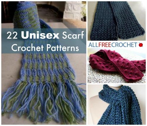 22 Unisex Scarf Crochet Patterns | AllFreeCrochet.com