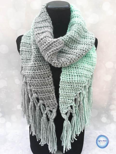 Mint-cicle Scarf Crochet Pattern u2014 Left in Knots