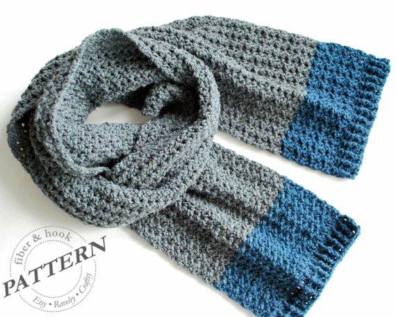 CROCHET PATTERN Isle of Man Scarf Crochet Scarf Pattern | Etsy