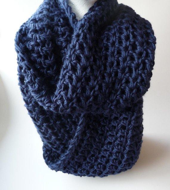 Crochet Infinity Scarf Pattern Crochet Cowl Scarf Pattern | Etsy