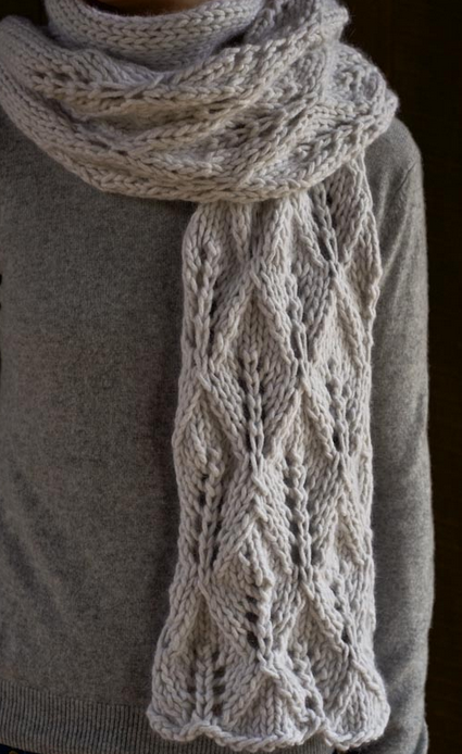 18 Lace Knitting Patterns for Scarves | AllFreeKnitting.com