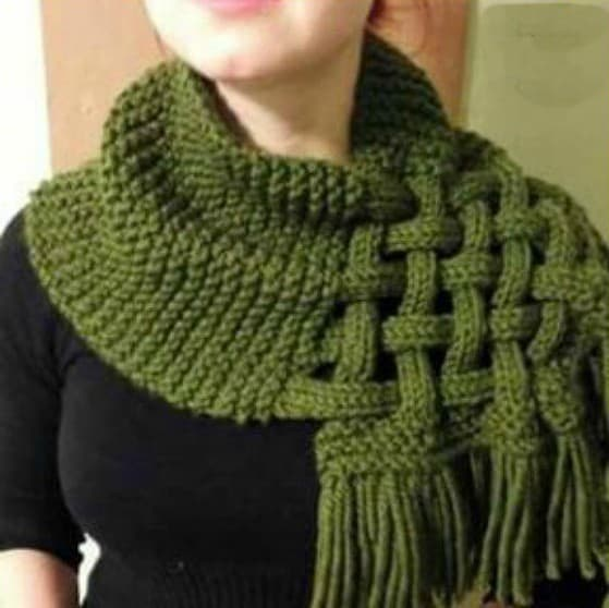 Celtic Knot Loop Scarf Pattern For Knitters