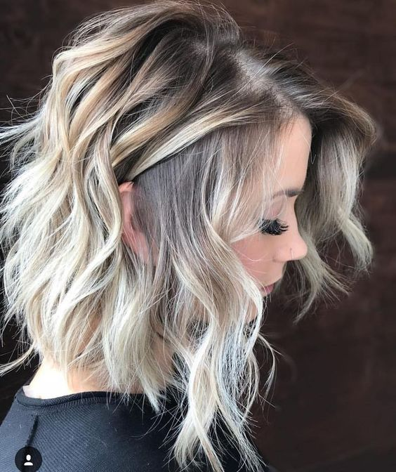 Thick hair can be trimmed to maintain   sexy medium hairstyles