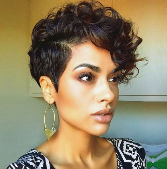 Short Curly Hair Style - Curls Pixie Haircut - PoPular Haircuts