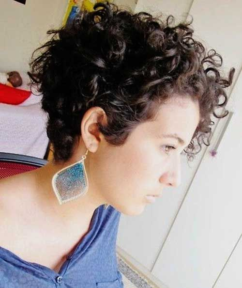 Short haircuts for curly hair easy to get   and make