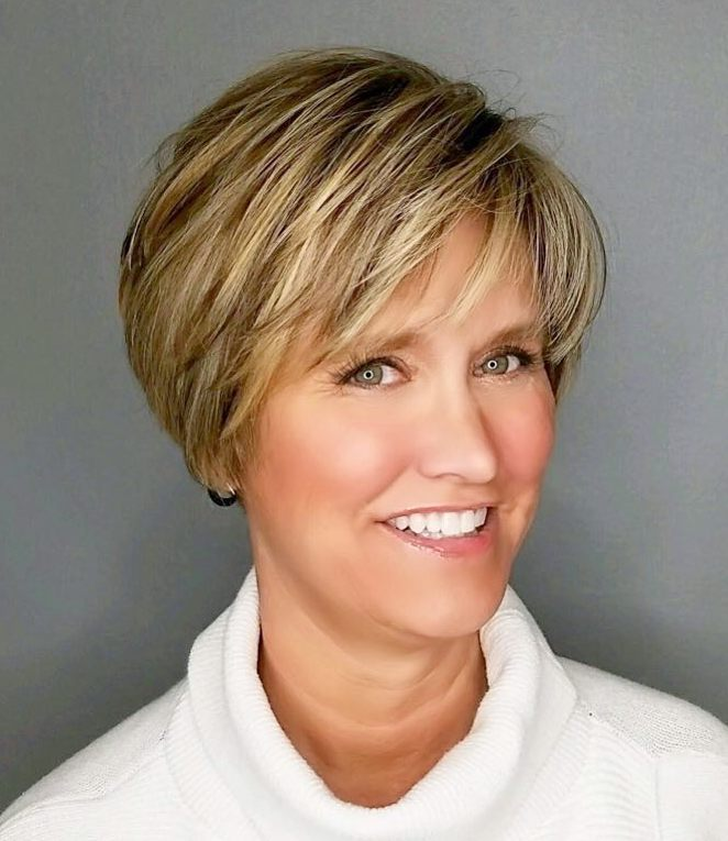 Golden Look after golden age-short   hairstyles for women over 50