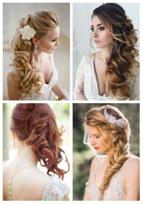 40 Gorgeous Side Swept Wedding Hairstyles | HappyWedd.com