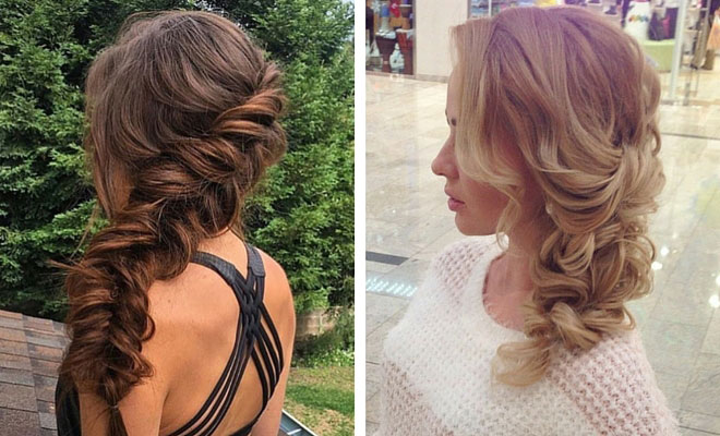 21 Pretty Side-Swept Hairstyles for Prom | StayGlam