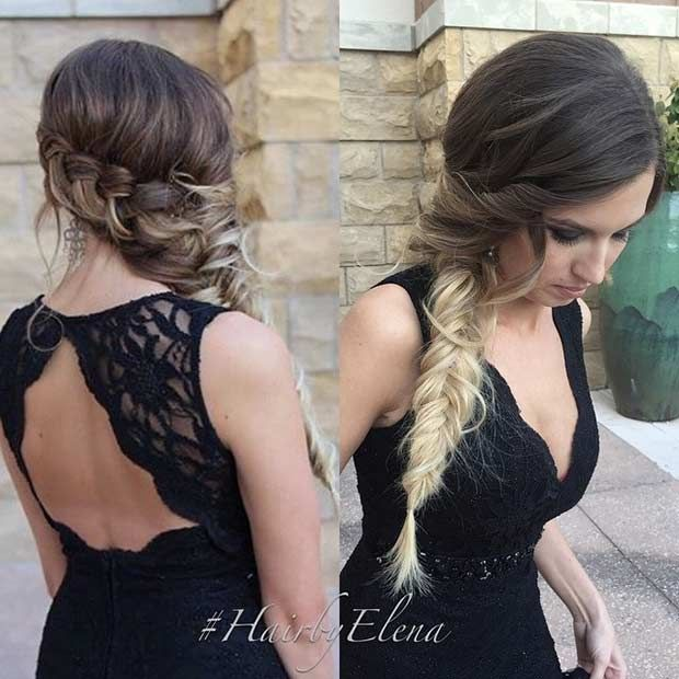 21 Pretty Side-Swept Hairstyles for Prom | StayGlam Hairstyles