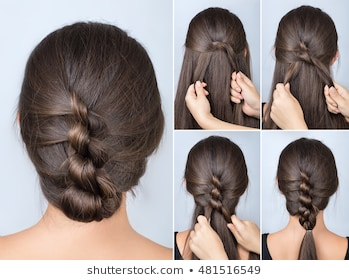 Simple Hairstyle Images, Stock Photos & Vectors | Shutterstock