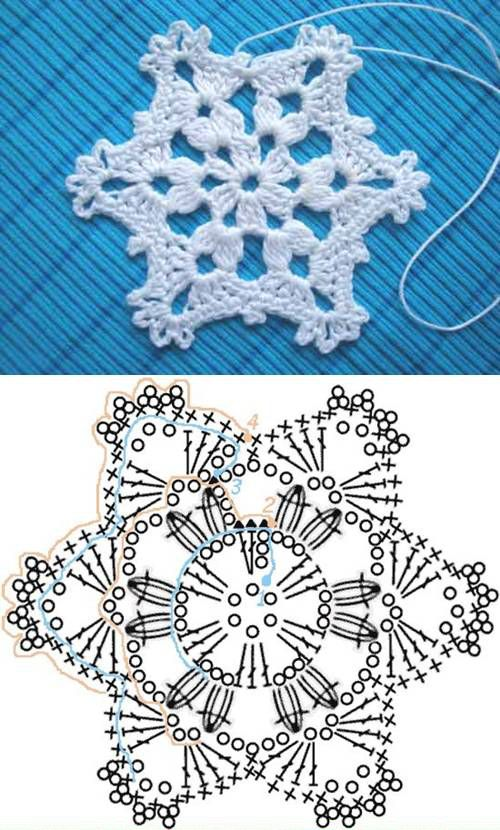 Wonderful DIY Crochet Snowflakes With Pattern | crochet | Pinterest