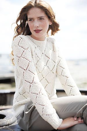 Lace Pullover Free Knitting Patterns | Knit passion fashion