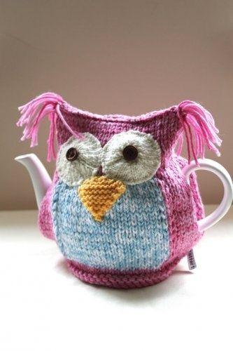 free owl tea cozy knitting pattern - Bing images u2026 | tea cozy's | Pinteu2026