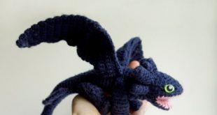 Dragon crochet pattern Toothless amigurumi pattern Night   Etsy