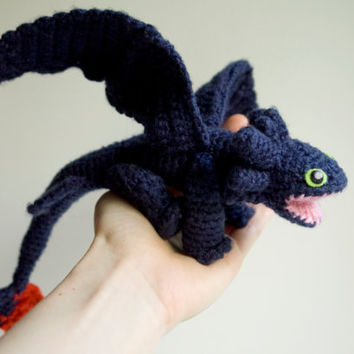 Dragon Toothless CROCHET PATTERN / from tinyAlchemy on Etsy | Ye