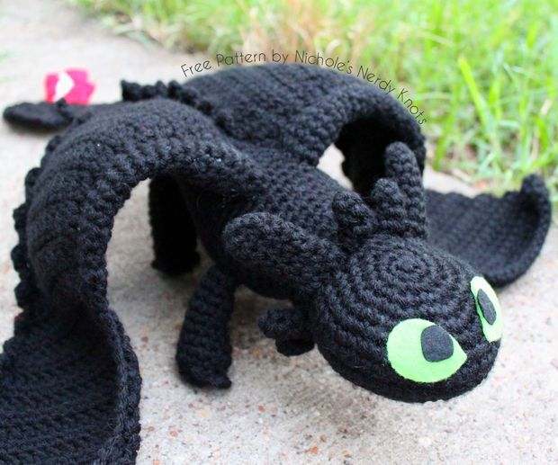 Crochet Toothless: 11 Steps (with Pictures)