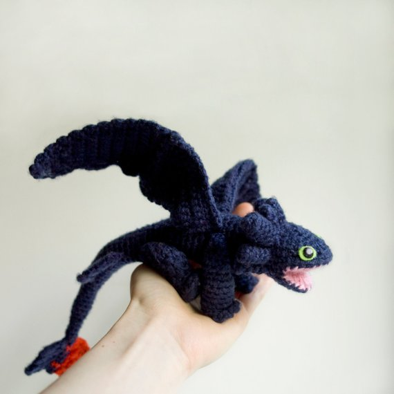 Dragon crochet pattern Toothless amigurumi pattern Night | Etsy