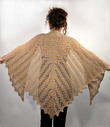 MES FAVORIS TRICOT-CROCHET: Modèle châle au tricot gratuit : Aran